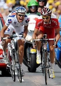 Stage 19 Finish, Roy & Chavanel
